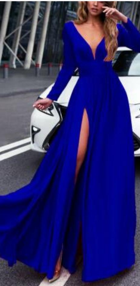 Royal Blue Prom Dress ad2414bd3382