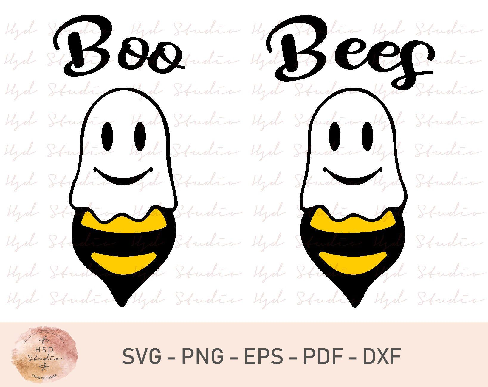 Halloween SVG, Boo SVG, Ghost SVG, Boo Bees Svg, Funny