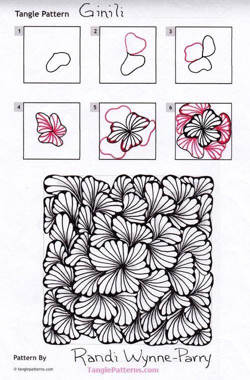 Ginili Pattern By Randi WynneParry ZenTangle In 40 Impressive Tangle Patterns
