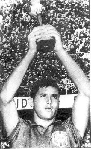 브라질 첫 월드컵 우승 안긴 일데랄두 벨리니의 추모분향소입니다.