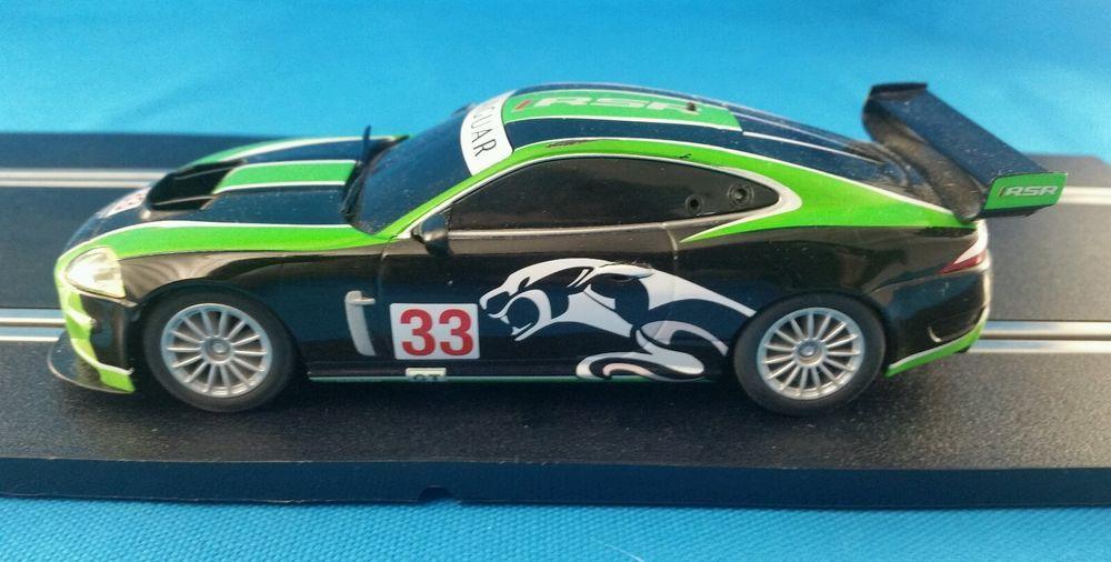 Scalextric Jaguar Xkr Gt3 Green Black Slot Car 1 32 Digital Scalextric Slot Cars Green Black S Jaguar