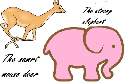 Contoh Narrative Text Fable Story Of Mouse Deer And Elephant