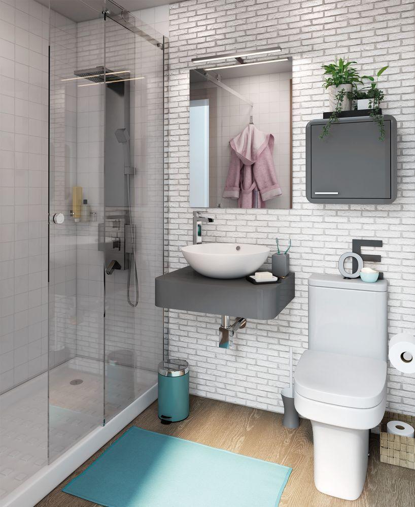 ¿Cómo distribuir un baño pequeño?   Baños pequeños, Baños ...
