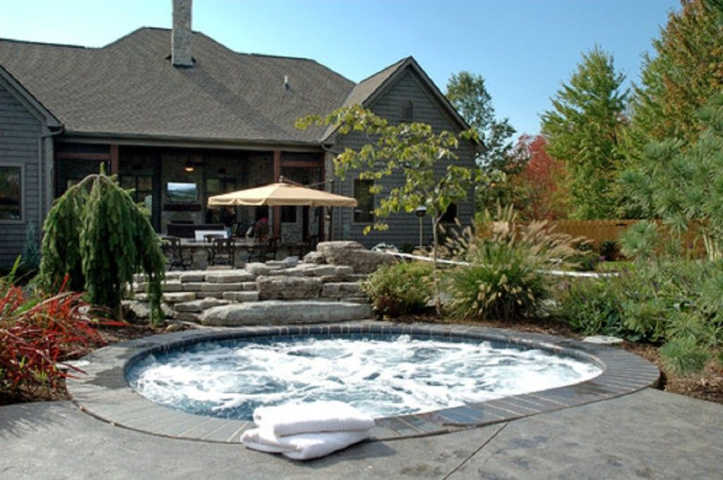 In Ground Spa Landscape 1024x679 In Ground Spa Designs | For the ...