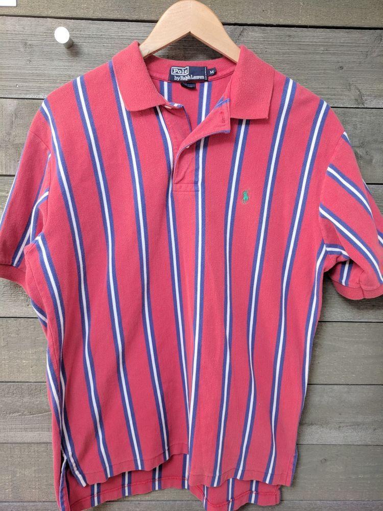 25fb75d3b2d Polo Ralph Lauren Men's Sz M Short Sleeve Polo Style Shirt Vertical Stripe  #PoloRalphLauren #PoloRugby