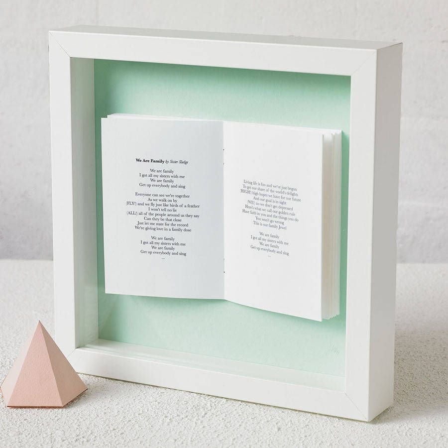 Favourite Song Personalised Framed Book | Pinterest | Songs, Paper ...