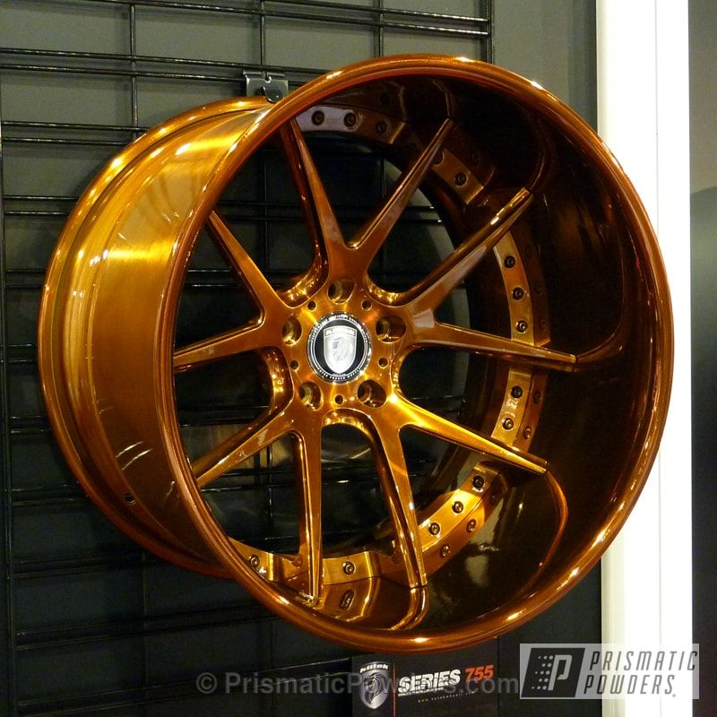 Wheels Coated In Our Transparent Copper Powder Coat Rims