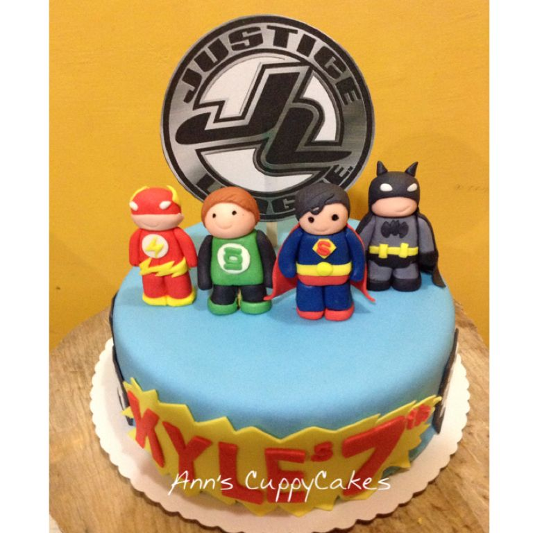 Justice League themed birthday cake