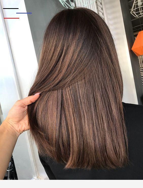 Braun mittellange haare Frisuren Lange