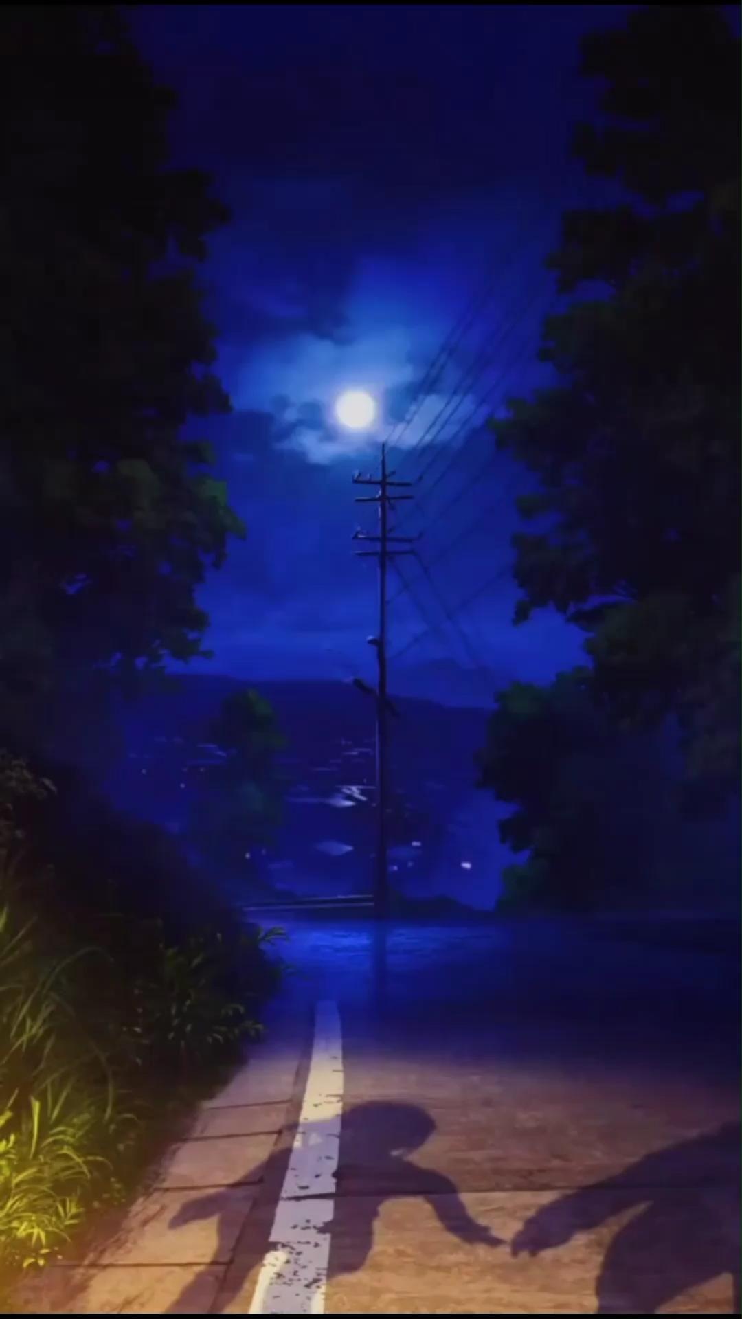 Hình nền động bầu trời đêm đẹp êm dịu