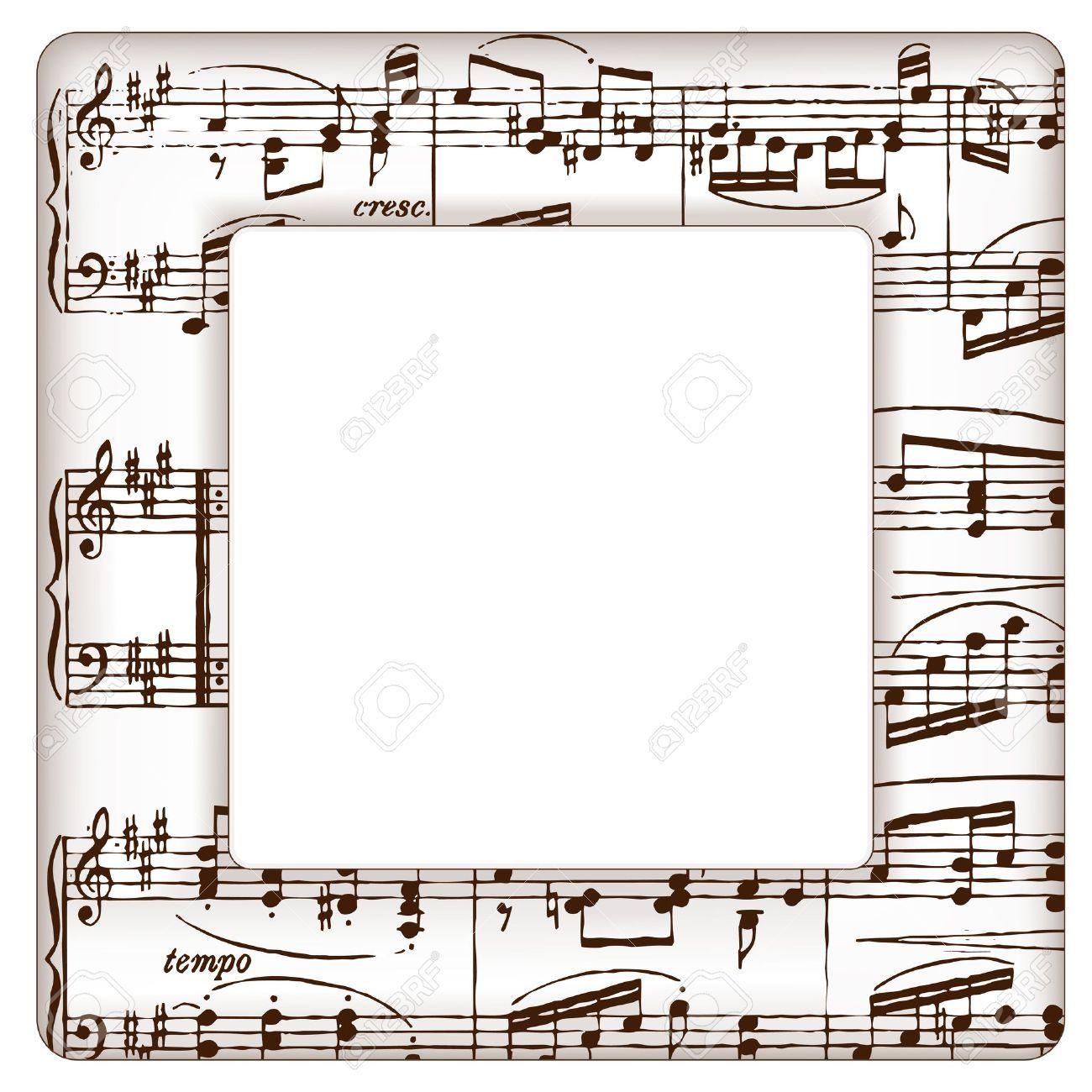 Marcos Con Notas Musicales Imágenes De Archivo, Vectores, Marcos ...