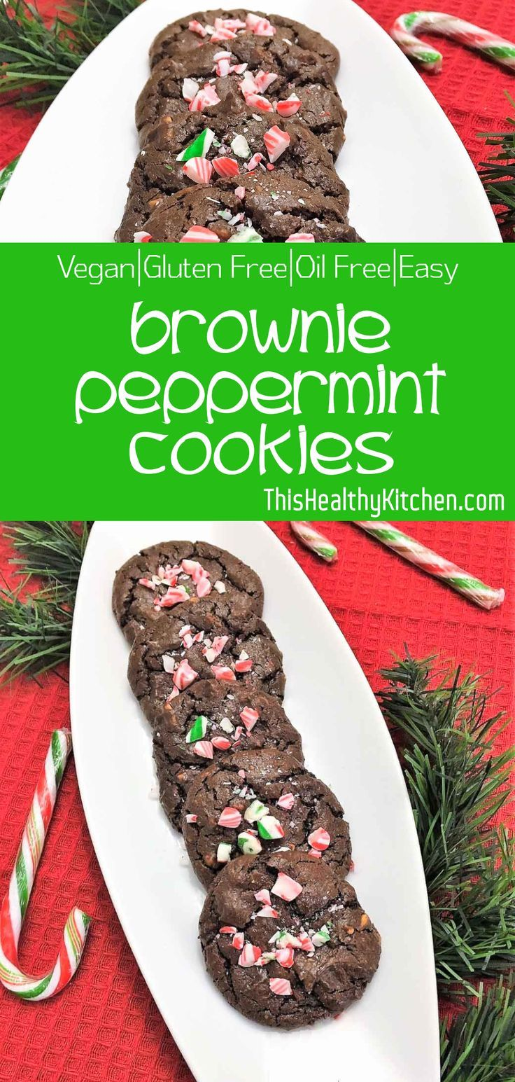 Brownie Peppermint Cookies Vegan GF Oil FreeThis Healthy Kitchen This is for all the mint chocolate lovers out there This decadent treat is rich nutty chocolatey with the...