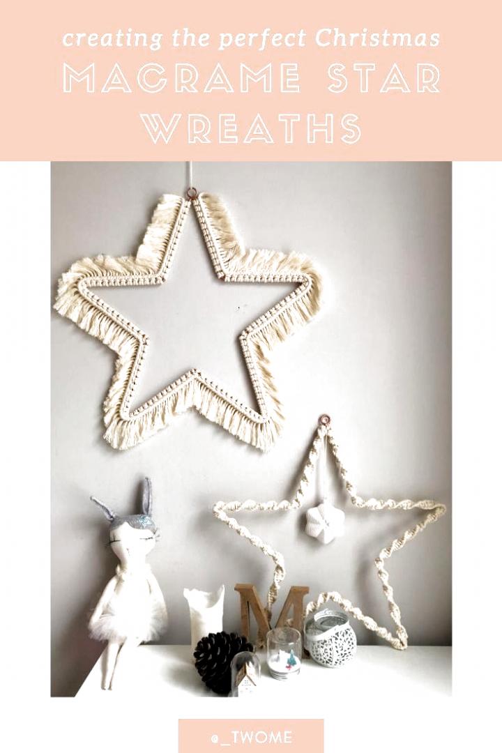 Macrame Christmas Stars DIY Weihnachten