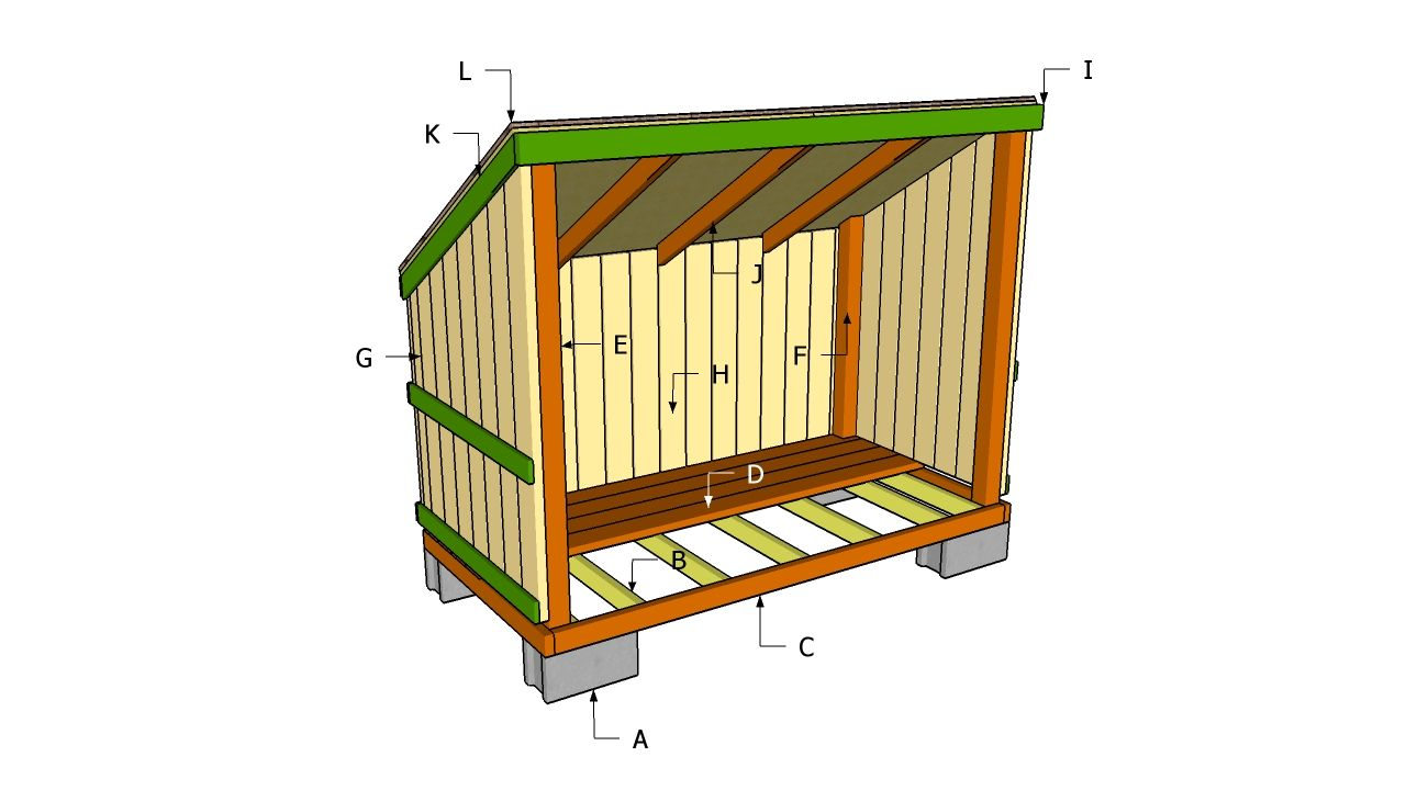 Attractive Free Outdoor Plans Diy Shed Wooden Playhouse . Firewood Sheds.