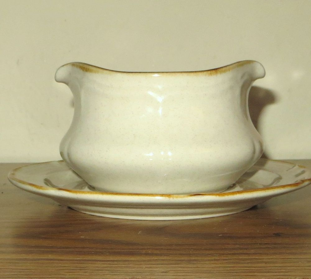 The Classics by Hearthside STONEWARE Gravy Bowl AND Saucer Tan ...