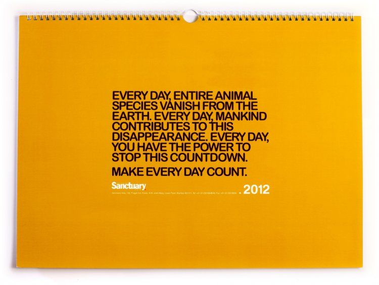 Sanctuary India Reverse Calendar StockLogos Design