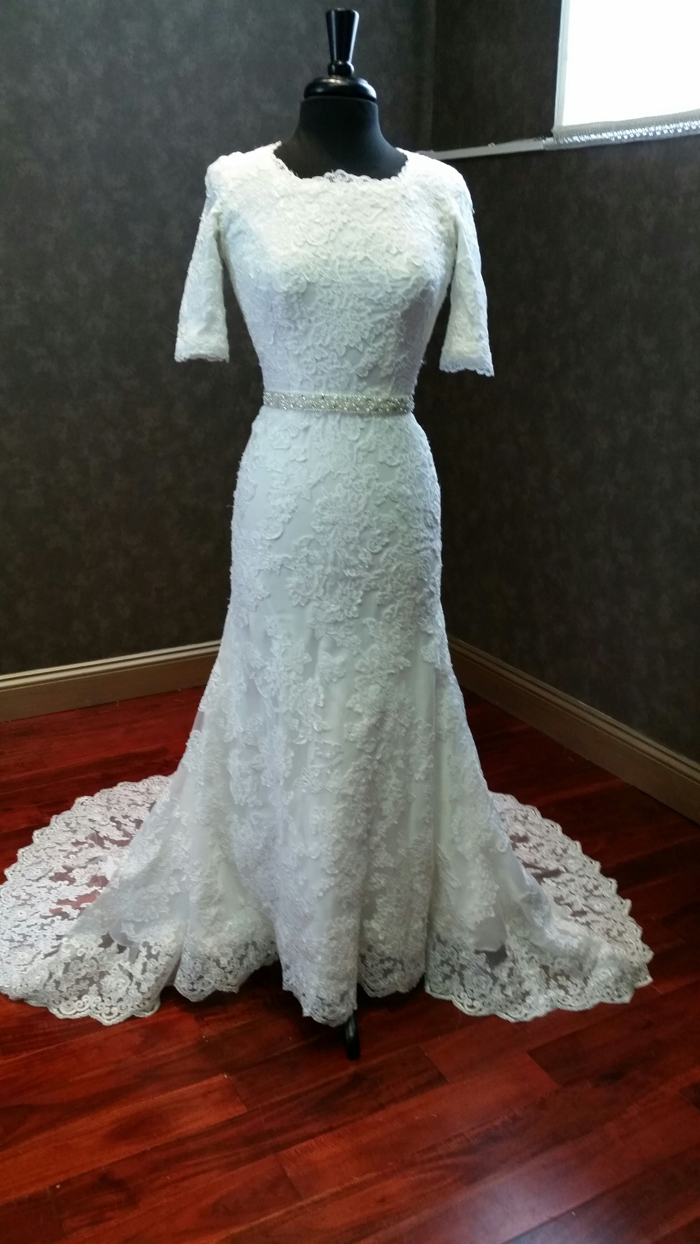 Modest Wedding Dress with sleeves from www.CoutureDeBride.com ...