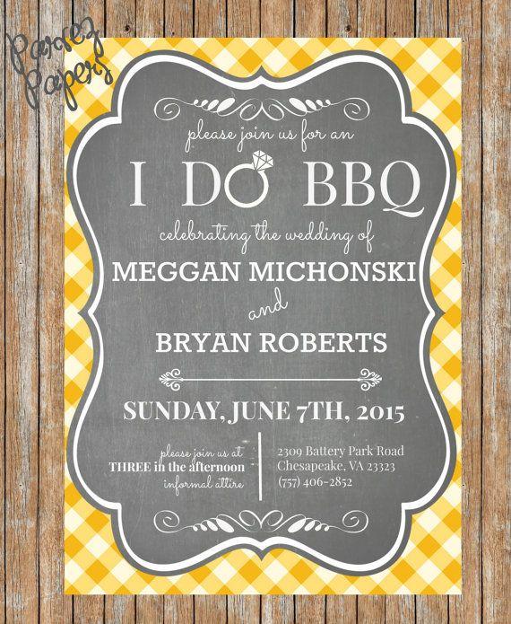 Backyard BBQ Wedding Invite-Printable, BBQ Wedding Invite ...