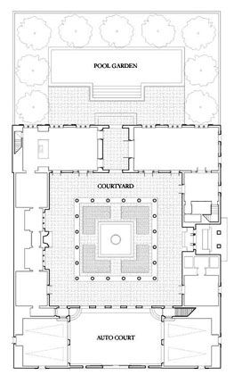 I Love Inexplicable Rooms Courtyard House Plans Vintage House Plans Chinese Courtyard