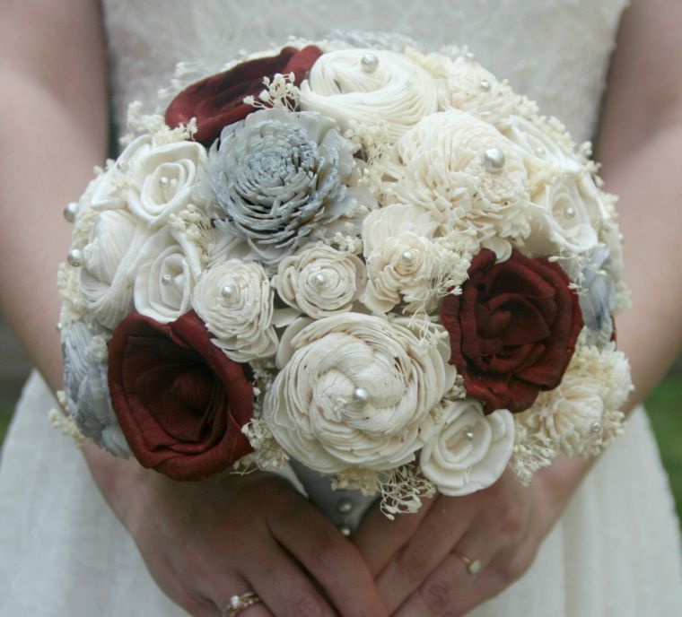 bouquet sposa bordeaux