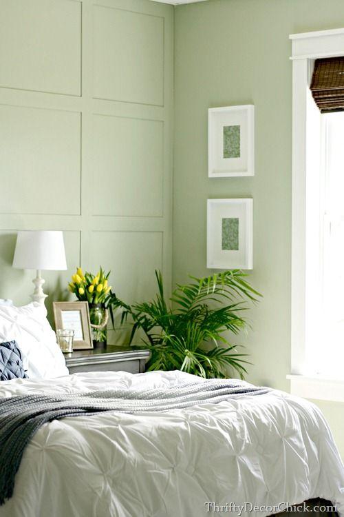 Softened Green Sherwin Williams Green White Bedroom