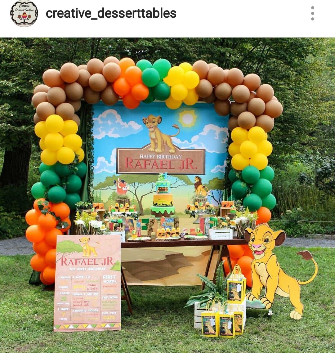 Lion King Birthday Party Dessert Table And Decor