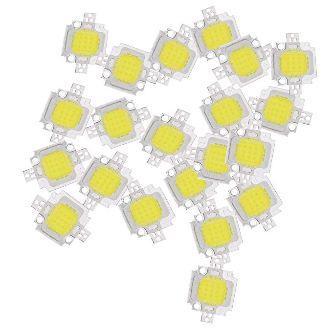 Sodial R 20pcs 10w Led Pure White High Power 1100lm Led Lamp Smd Chip Light Bulb Dc 9 12v Amazon Com Led Lamp Led Pure Products