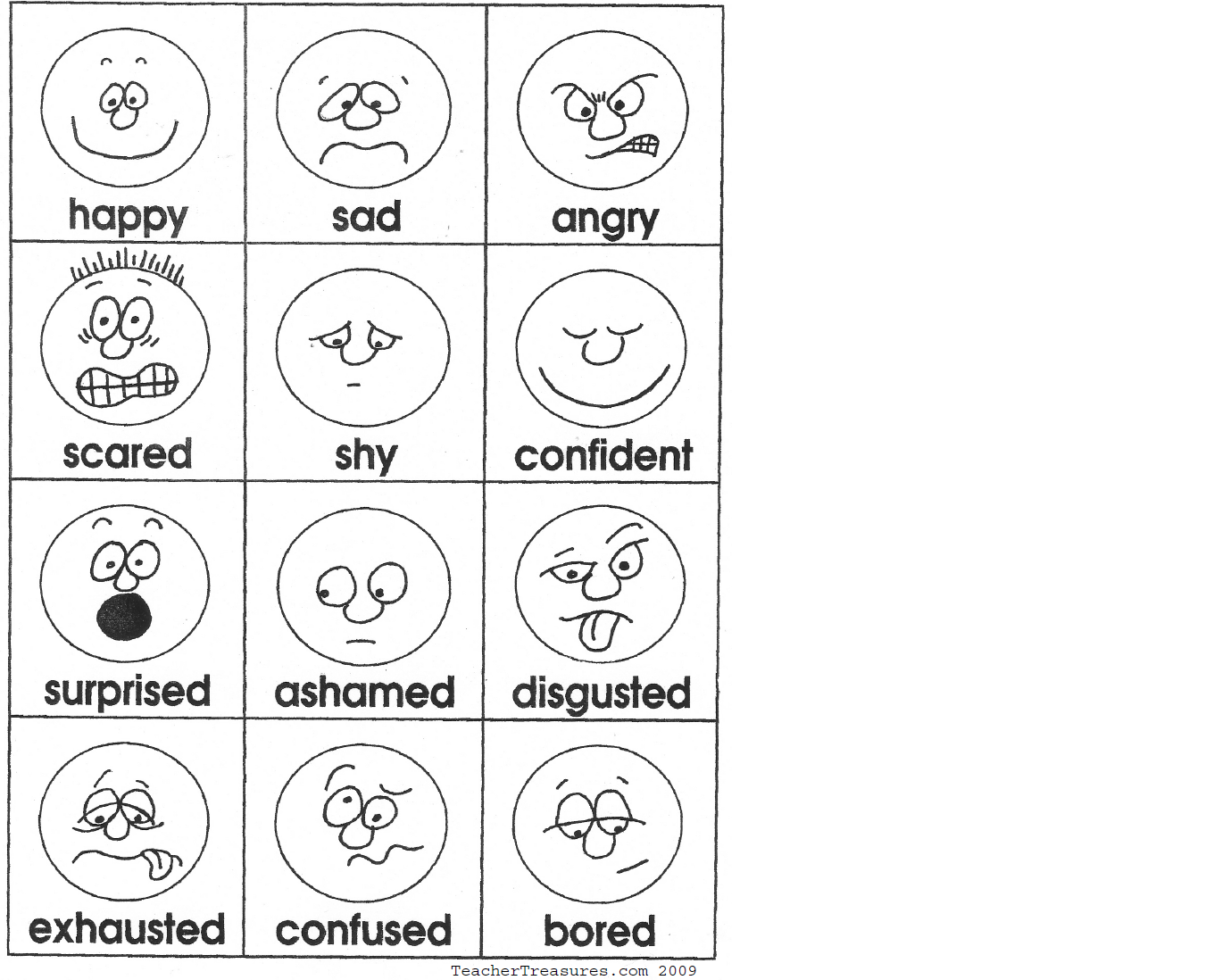 Preschool Worksheet Gallery Preschool Emotion Matching