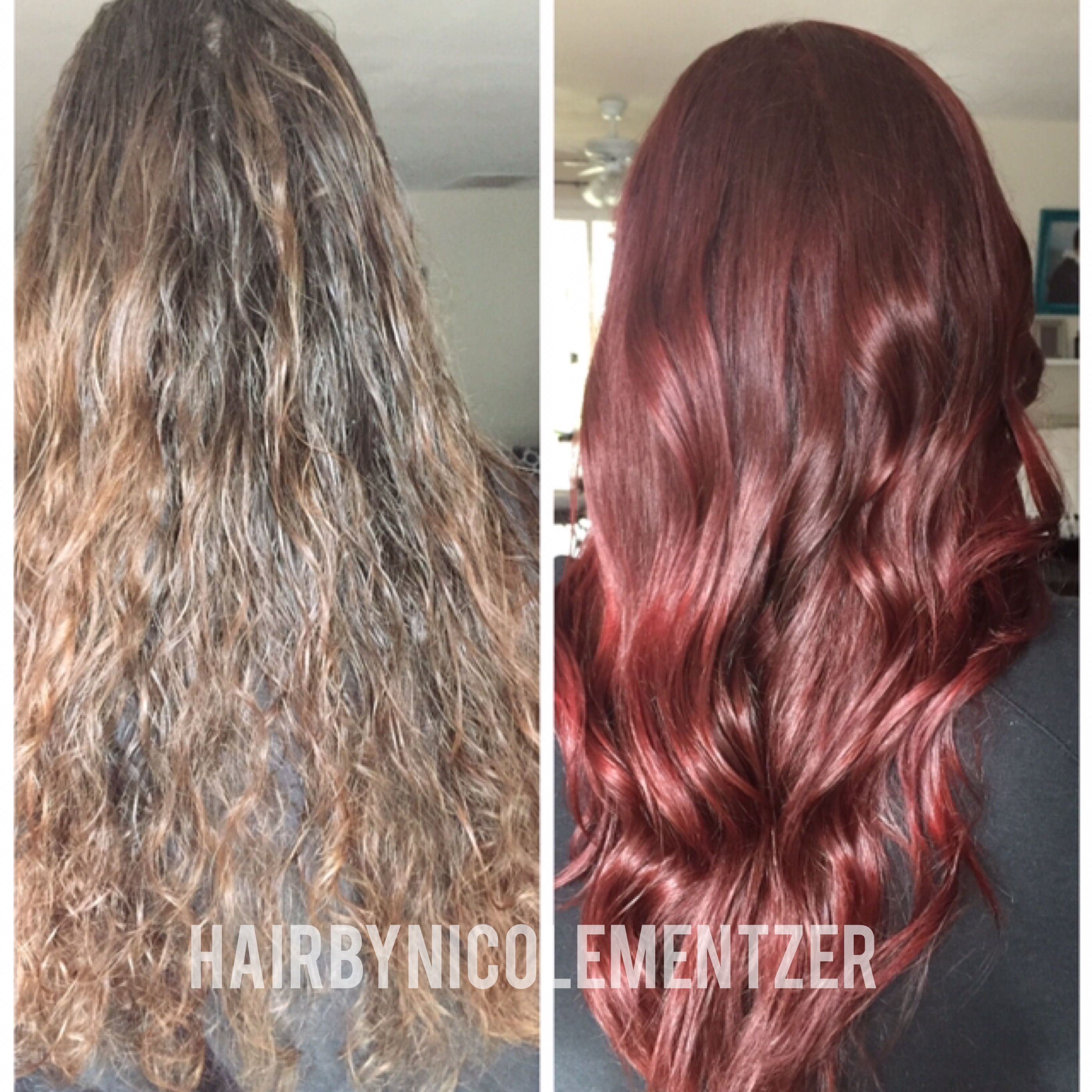 Red hair transformation redhairredhaircolorredheadbeforeandafter