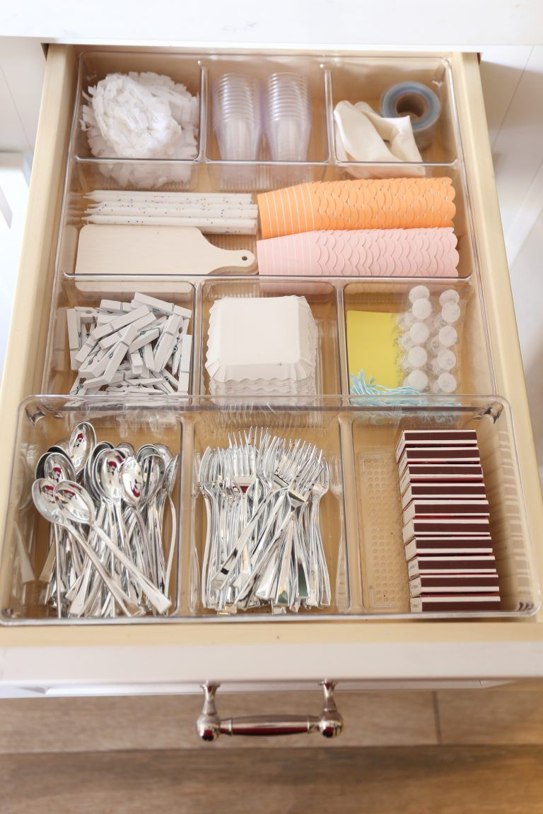 Organize Your Kitchen Drawers With Kitchen Drawer Organization Ideas Kitchen Drawer Organization Drawer Organizers Party Supply Organization