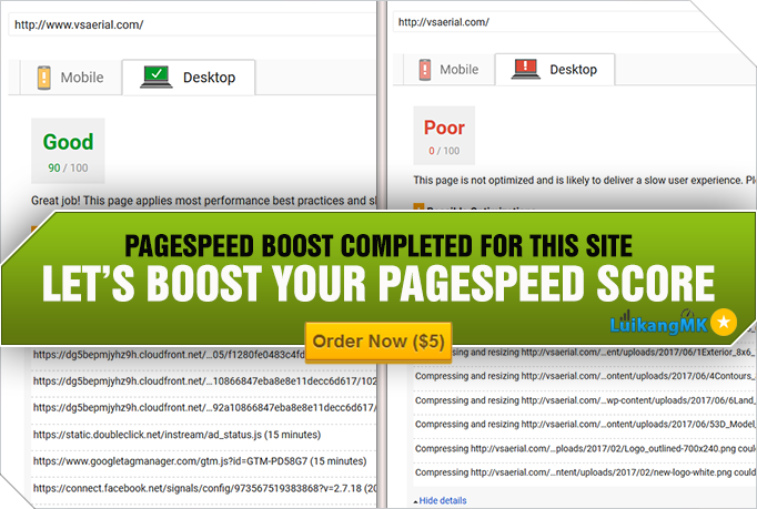 LuikangMK just delivered a WordPress Performance Optimization project on Fiverr. - #WebsiteSpeed