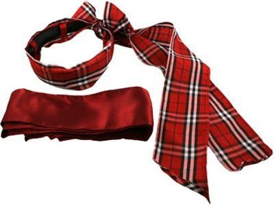 The Scarf Switch-a-Roo Headband Red Plaid - Red Solid - Black Headband $15.00
