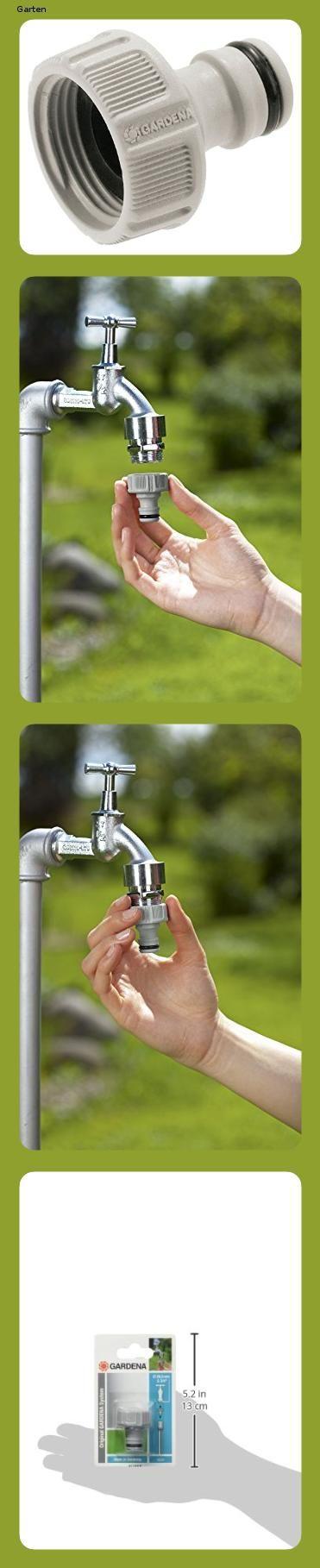 Gardena Hahnverbinder 26 5 Mm G 3 4 Zoll Anschluss Fur Wasserhahne Mit Gewinde Wasserdichte V In 2020 Wasserhahn Verpackung Hahnchen