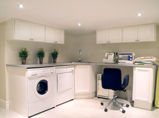 corner sink laundry room design