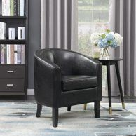 Magnificent Mainstays Faux Leather Bucket Accent Chair Walmart Com Ncnpc Chair Design For Home Ncnpcorg