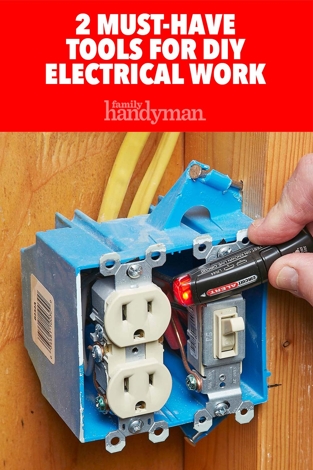 2 Must Have Tools For Diy Electrical Work With Images Diy Electrical