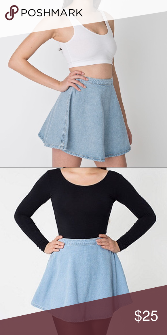 American Apparel Denim Circle Skirt Light blue denim. Have two sizes available. Both in great condition. American Apparel Skirts Circle & Skater