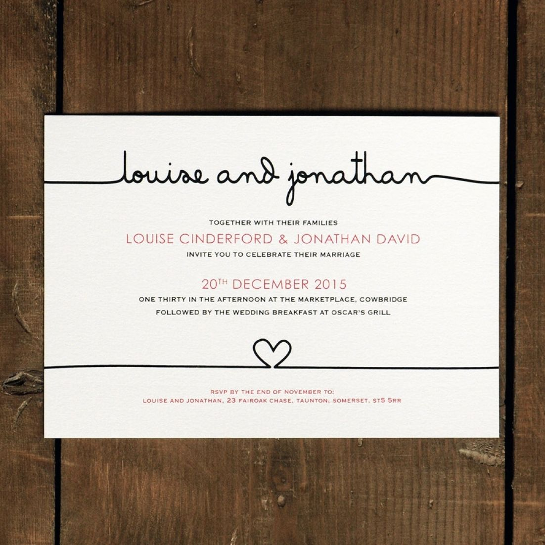 Scribble Handwriting Wedding Invitation Set On Luxury Card Modern Wedding Invites Wedding Invitations Uk Wedding Invita Di 2020 Undangan Pernikahan Pernikahan Undangan