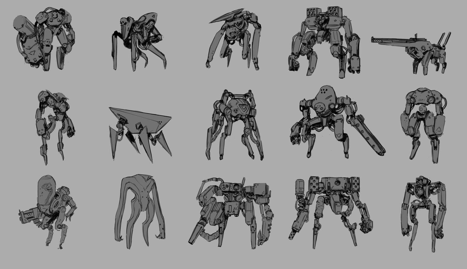 R.i.B.O.T. sketches, Ryan Gitter on ArtStation at https://www.artstation.com/artwork/r-i-b-o-t-sketches