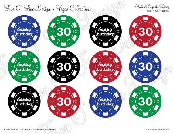 Las Vegas Poker Party Printables By 505design On Etsy 25 00 Poker Party Poker Casino Theme Parties