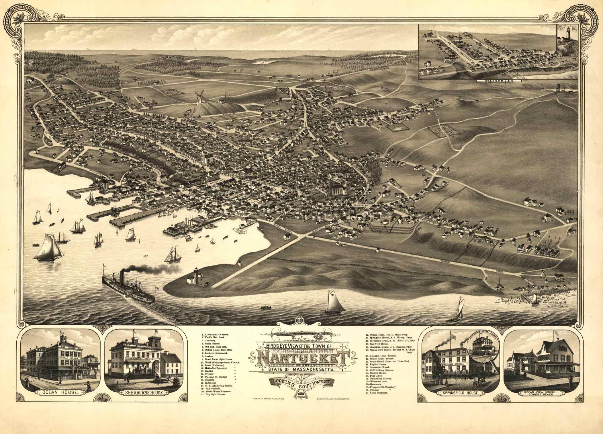 20x30 Bird/'s Eye View 1892 Dallas Texas Vintage Style City Map