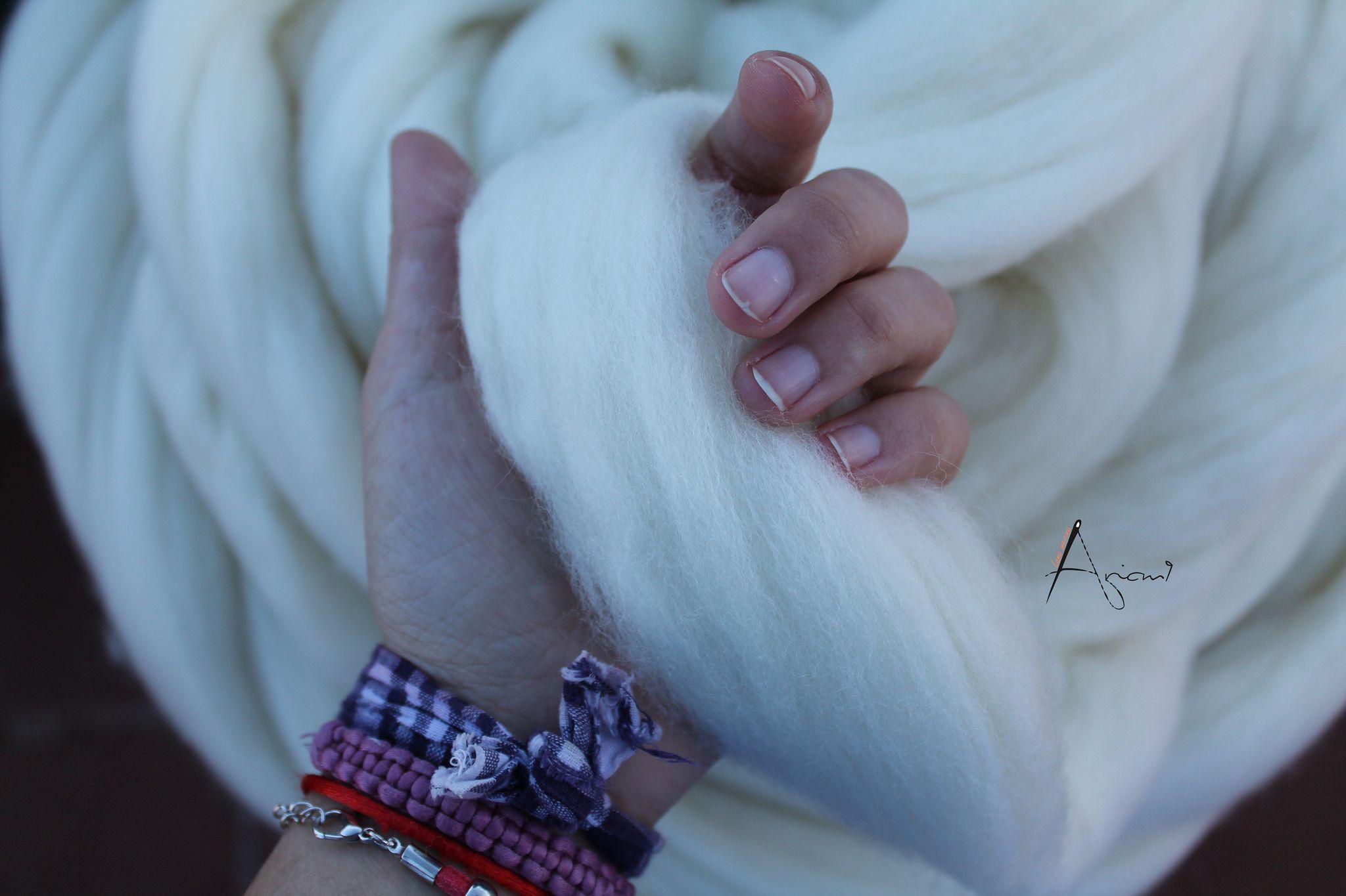 Manta de lana super chunky xxl de oveja merina espa ola - Lana gruesa para tejer ...