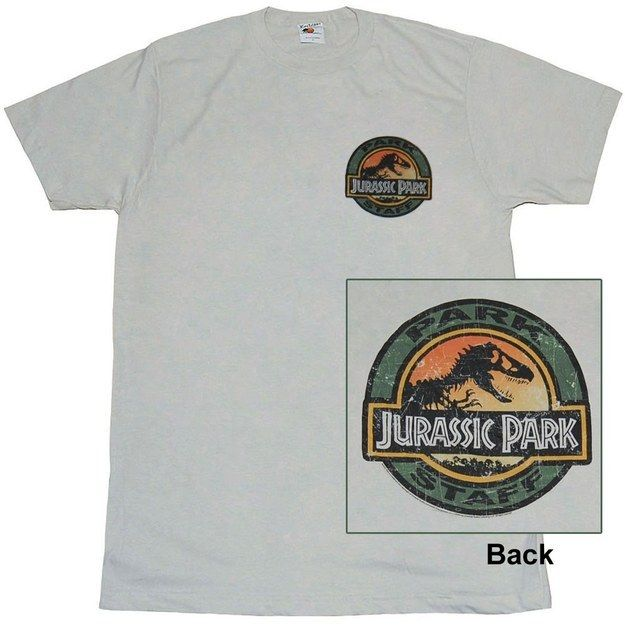 "You always wanted to be a park ranger, right? Show it off with this shirt. | 19 Fearsome ""Jurassic Park"" Items You Need In Your Life"