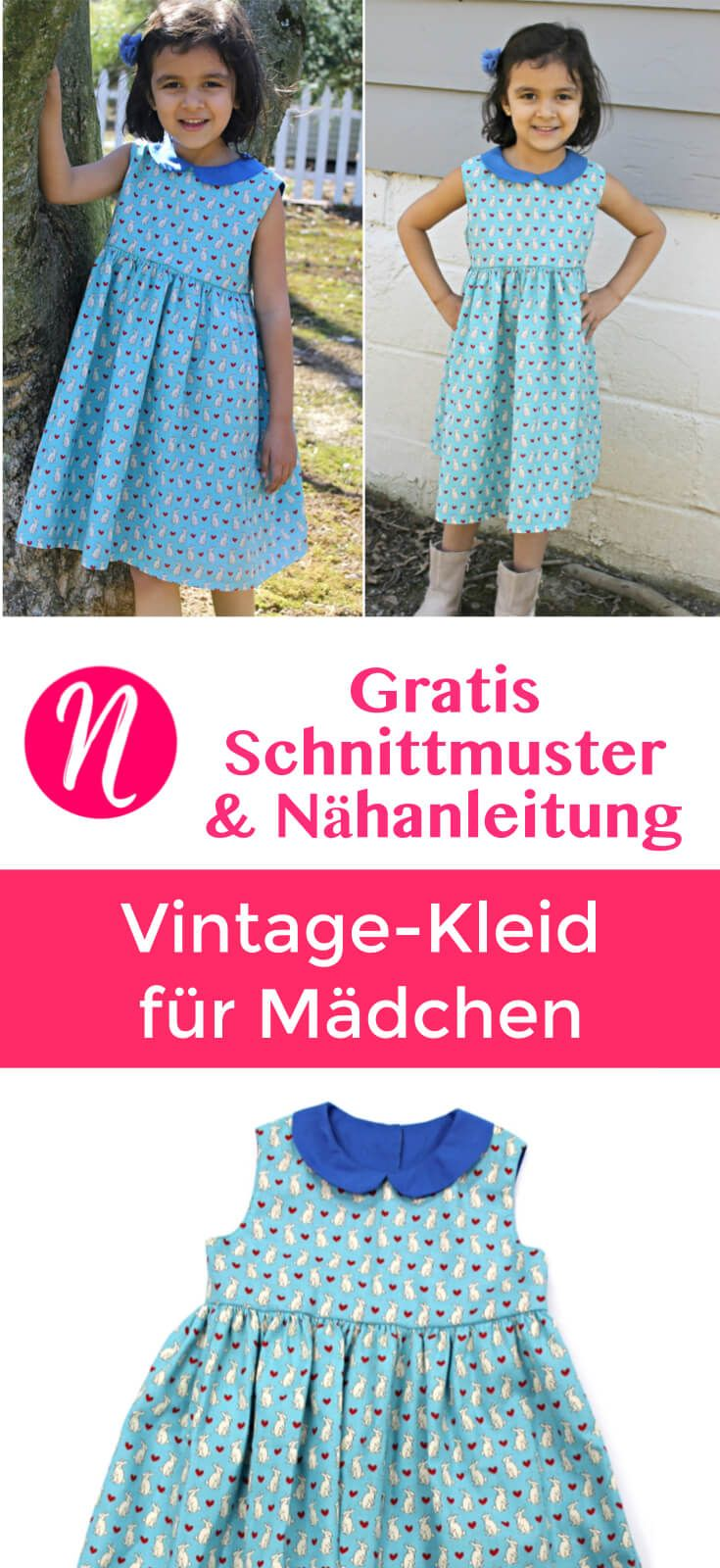 Kinderkleid mit Bubikragen - Freebook | Pinterest | Sewing patterns ...