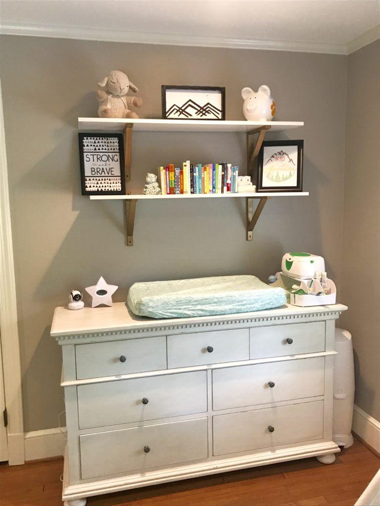 Green Woodland Nursery Nursery Shelves Baby Room Shelves Baby Room Storage