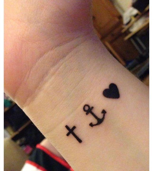 Mały Tatuaż Z Kotwicą Wzory Z Symbolem Nieskończoności