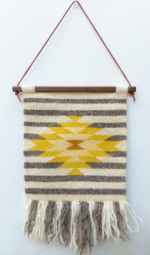 handwoven tapestry woven wall hanging weaving by