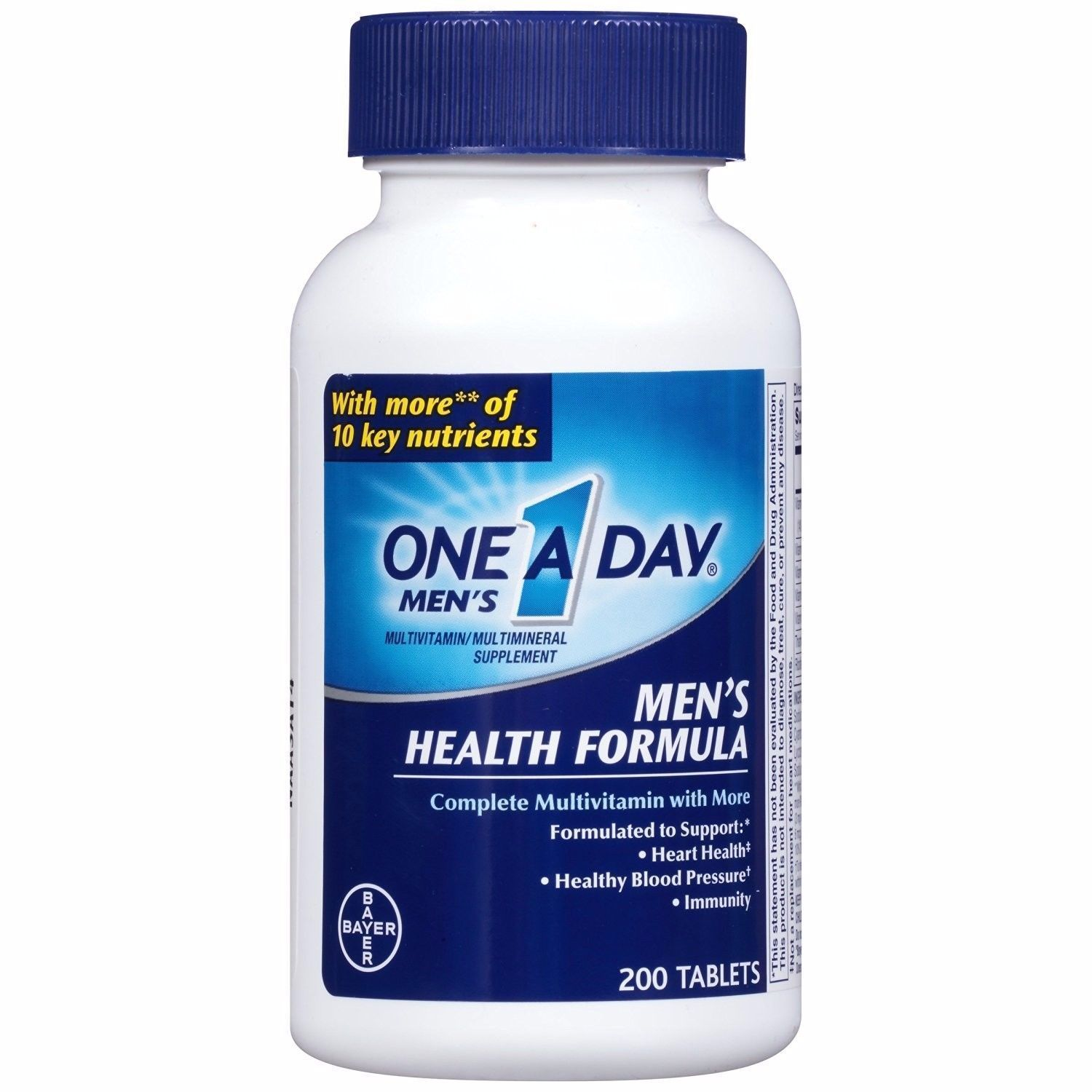 One A Day Men S Health Formula Complete Multivitamin Tablets 200 Ct Work Out Wear Multivitamin Tablets Multivitamin Immune Health
