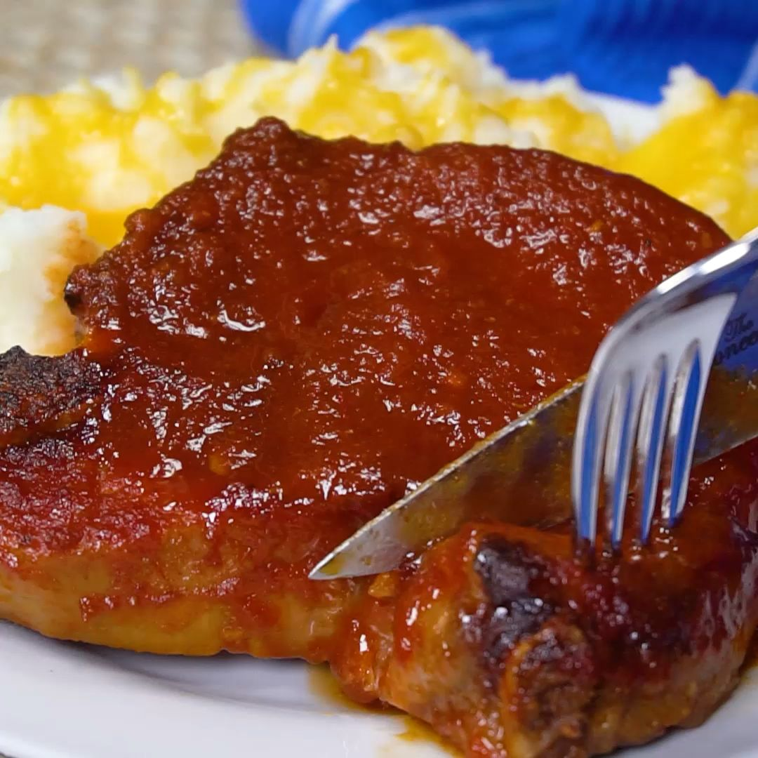 Easy Oven Barbecued Pork Chops