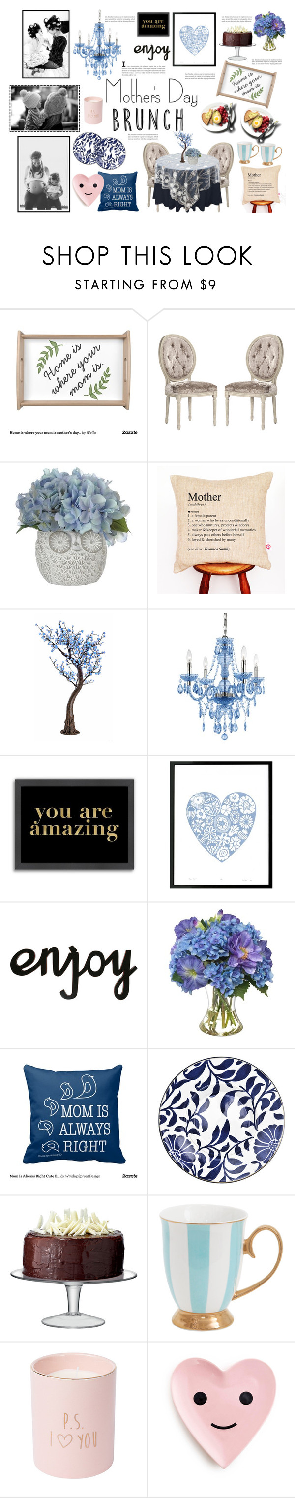 """""""Mother's Day Brunch (Happy Mother's Day!)"""" by anacarolinaferraz ❤ liked on Polyvore featuring interior, interiors, interior design, home, home decor, interior decorating, J.A.K., AF Lighting, Americanflat and Lu West"""